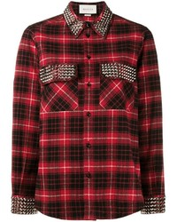Gucci Studded Plaid Shirt