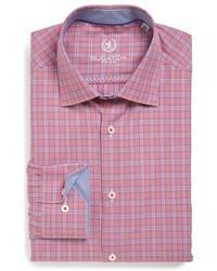 Bugatchi Trim Fit Glen Plaid Dress Shirt