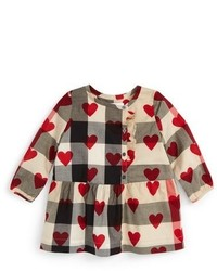 Burberry Infant Girls Mini Alaya Check Heart Print Dress
