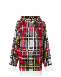 R13 Cashmere Checked Hooded Sweater