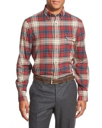 Shop regular fit plaid flannel sport shirt medium 388966