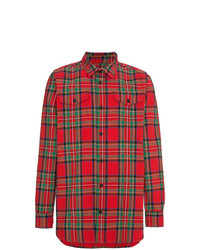 Off-White Tartan Checked Shirt