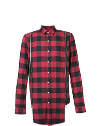 Mostly Heard Rarely Seen Zipped Detailing Plaid Shirt