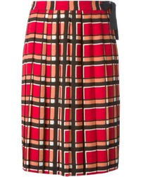 Toto plaid pattern skirt medium 251395