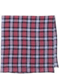 Red Plaid Pocket Square