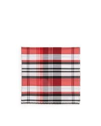 Original Penguin Casey Plaid Cotton Pocket Square