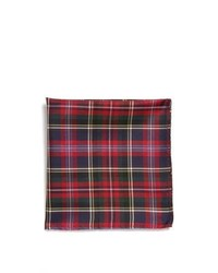 Original Penguin Cristo Plaid Silk Pocket Square