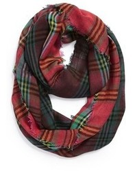 Renee's Accessories Dip Dye Plaid Eternity Scarf