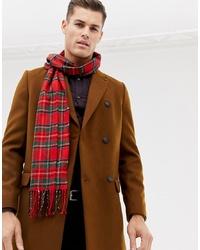 Burton Menswear Tartan Scarf In Red Check