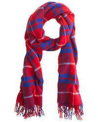 J.Crew Wool Plaid Scarf