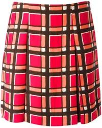 Red Plaid Skater Skirt