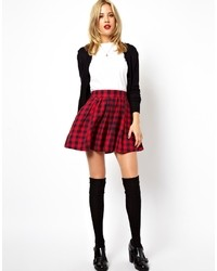 Collection full skater skirt in brushed plaid check medium 35416