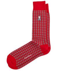 Red Plaid Socks