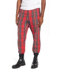 Red Plaid Sweatpants