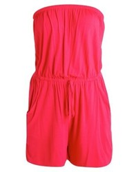 New Look Basic Bandeau Jumpsuit Red