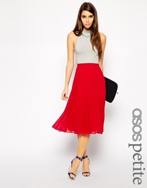 fd2c70a703d ... Red Pleated Midi Skirts Asos Petite Midi Pleated Skirt ...