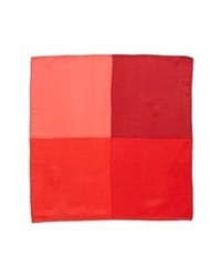 Original Penguin Madison Solid Silk Pocket Square Red One Size