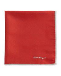 Silk twill pocket square red medium 64808