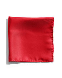 Nordstrom Silk Twill Pocket Square Red One Size