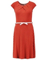 Anna Field Jersey Dress Redwhite