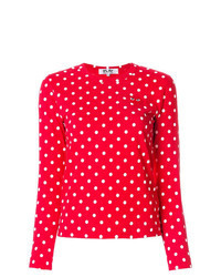 Red Polka Dot Long Sleeve T-shirt