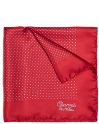 Red Polka Dot Pocket Square