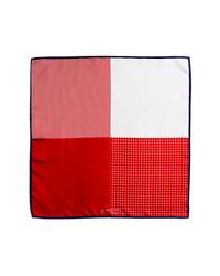 J.Z. Richards Silk Pocket Square Red One Size