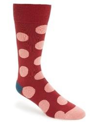 Red Polka Dot Socks