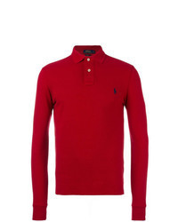 Red Polo Neck Sweater
