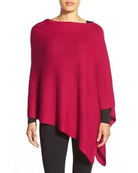 Textured merino knit poncho medium 351964
