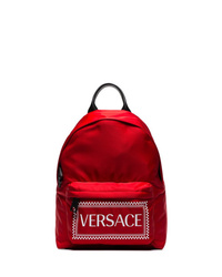 Versace Red Logo Backpack