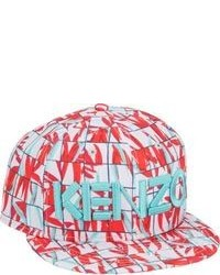 Red Print Baseball Cap
