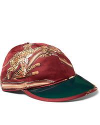 Gucci Printed Silk Twill Baseball Cap