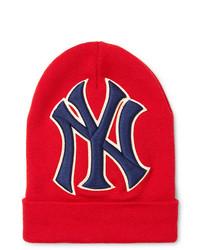 Gucci New York Yankees Appliqud Wool Beanie