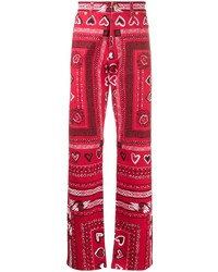 Versace Bandana Print Wide Leg Trousers