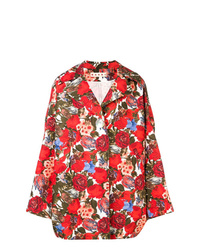 Marni Oversized Rose Print Coat