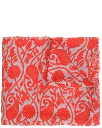 Leaves print scarf medium 616570