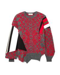 Preen by Thornton Bregazzi Ed Intarsia Wool Blend Sweater