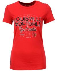 Red Print Crew-neck T-shirt