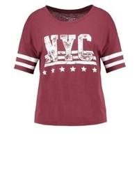TWINTIP Print T Shirt Dark Red