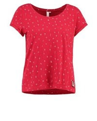 s.Oliver Print T Shirt Hibiscus