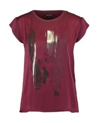 More & More Print T Shirt Ruby Orchid Multi