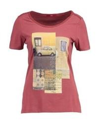 s.Oliver Print T Shirt Tandoori Red