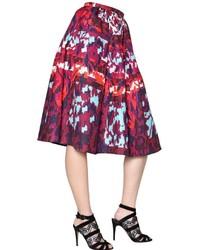 Red Print Full Skirt