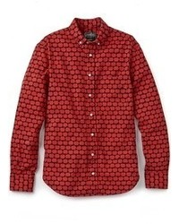 Red Print Long Sleeve Shirt