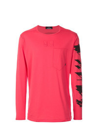 Red Print Long Sleeve T-Shirt