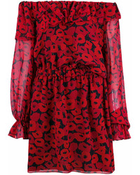 Saint Laurent Poppy Print Dress