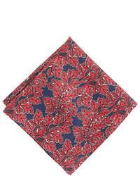 Red Print Pocket Square