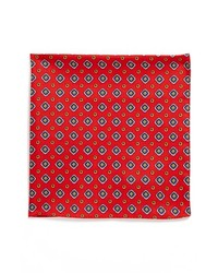 BOSS HUGO BOSS Silk Pocket Square Red One Size
