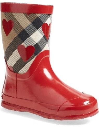 feb558588ccb ... Red Print Rain Boots Burberry Ranmoor Heart Print Rain Boot ...